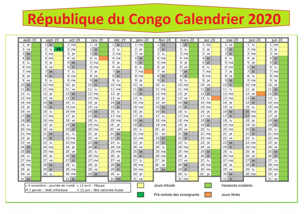 Calendrier Campus France 2020 Rdc